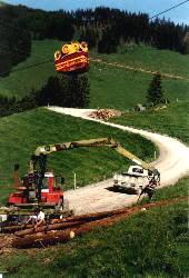 Seilbahn Holztransport